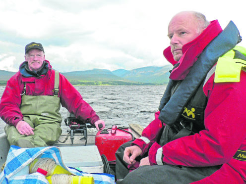 Ron Greer, Scottish Fisheries Ecologist and Eric Verspoor.