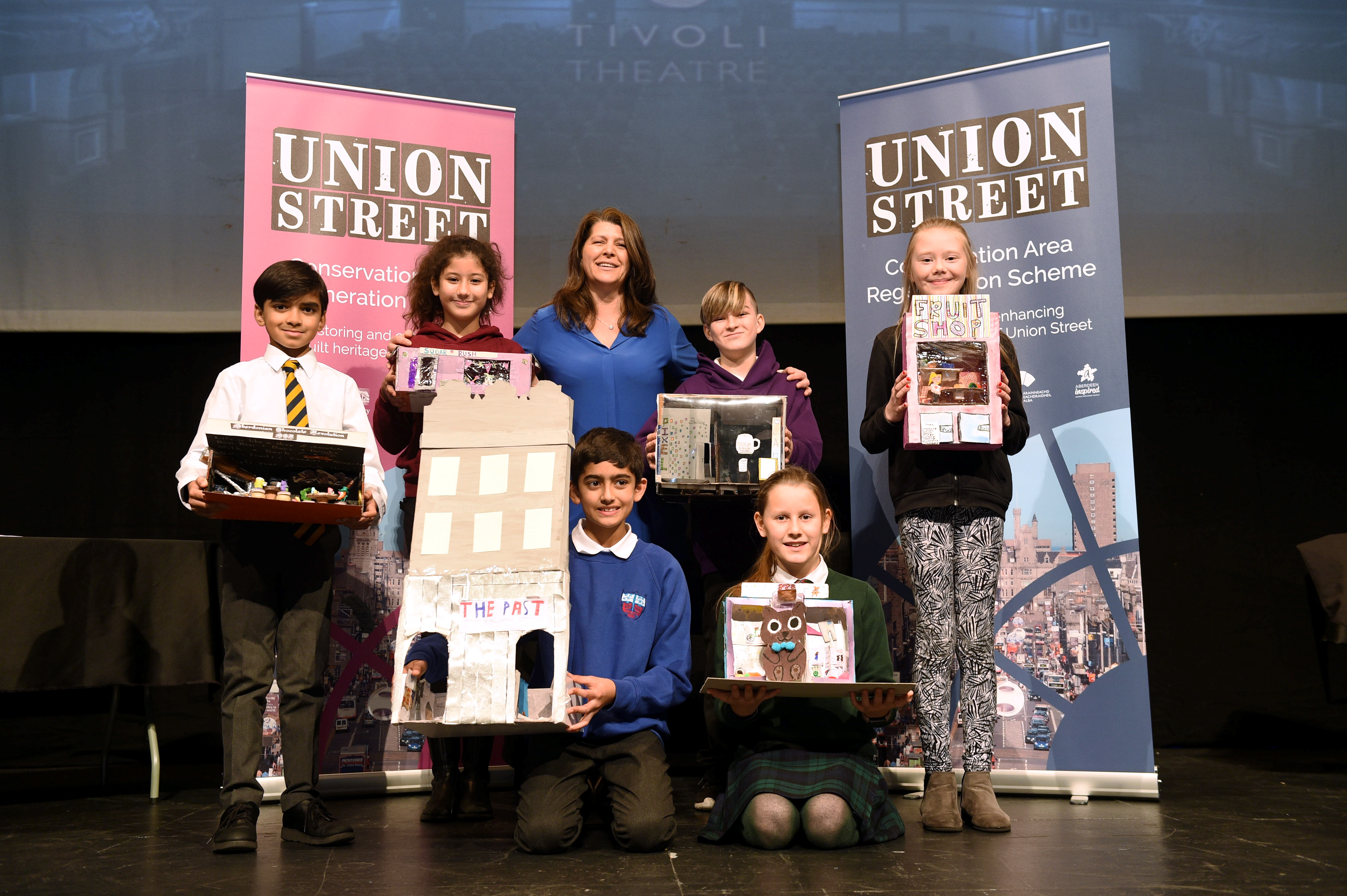 City school children have been involved in a project designing their ideal shops for Union Street.