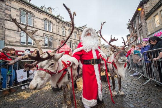 Santa and his reindeers in Elgin