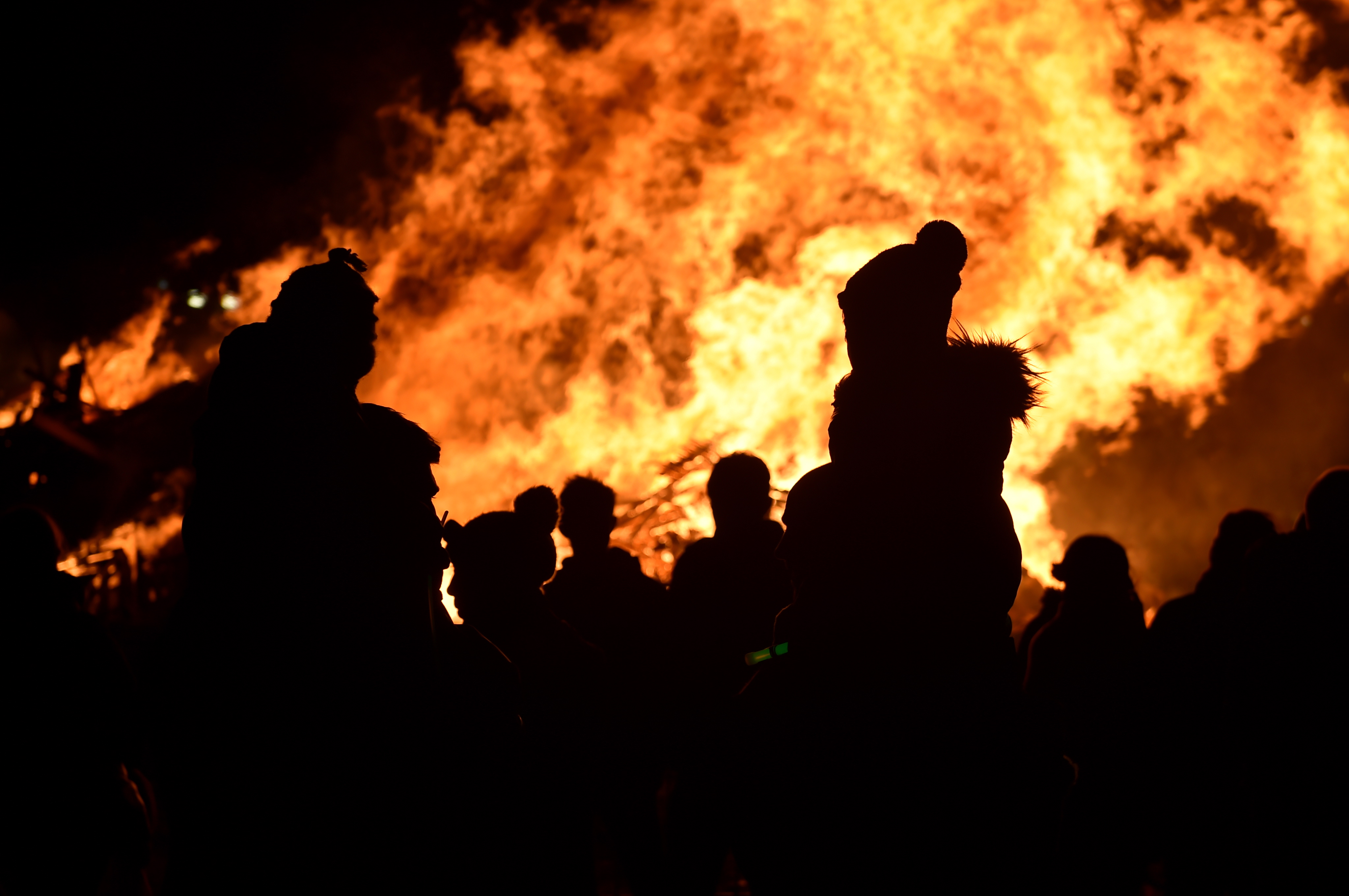 Banchory's annual Bonfire and Fireworks 2018, at George V Park. (Picture: Kenny Elrick)