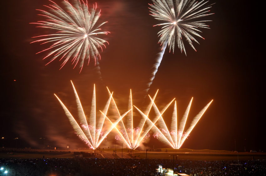 Late-night fireworks terrified children and pets.