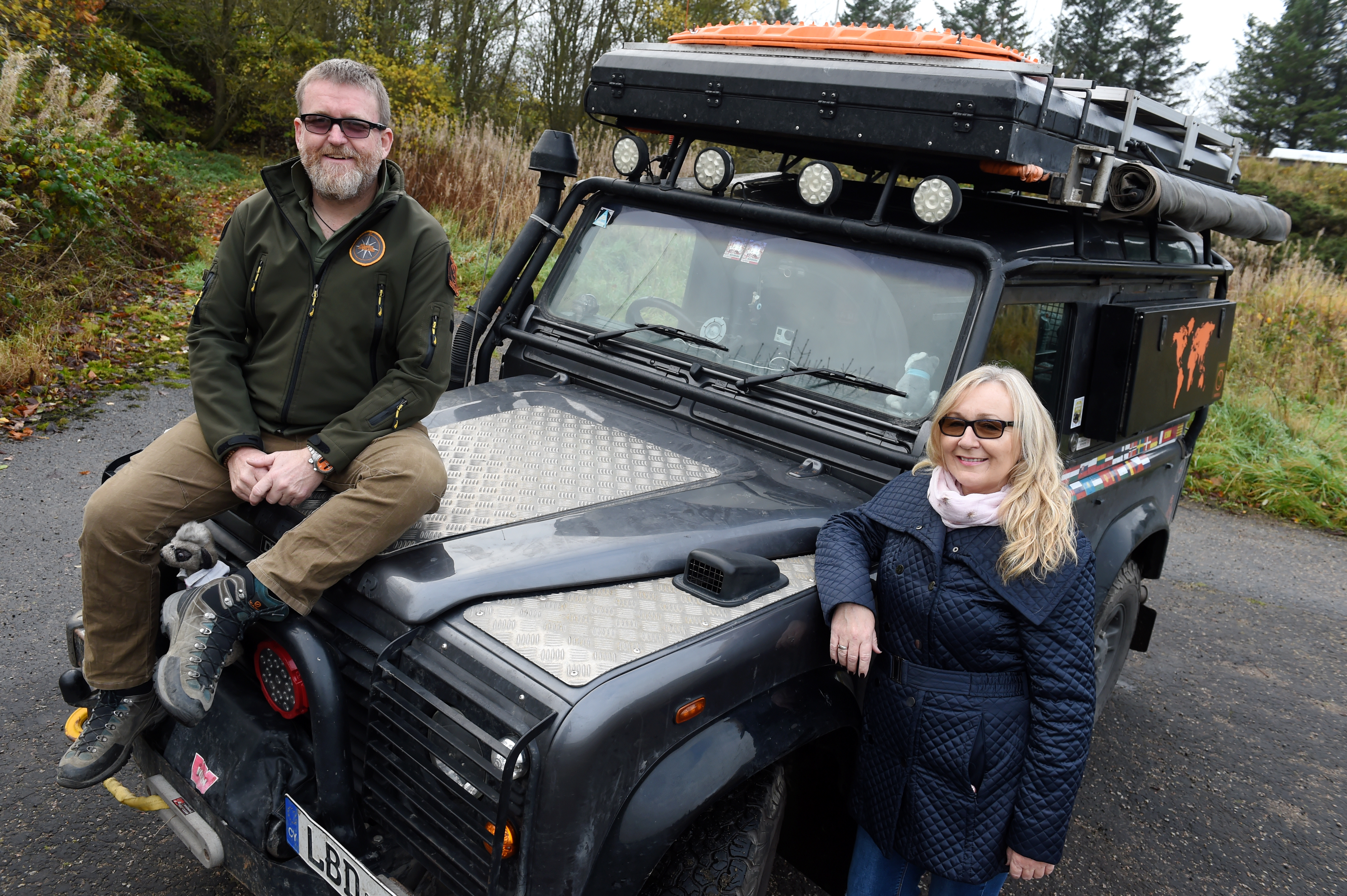 Angela Brown and partner Dave Spinks have recently completed a 200 day, 26 country trip of more than 24,000 miles from Newtonhill to Mongolia in a 2001 Land Rover Defender 90 (Picture by Kenny Elrick)
