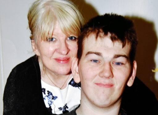 Tracey Gibbon and her son Kyle.
