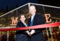Aberdeen City Council culture spokeswoman Marie Boulton and Aberdeen Inspired chief executive Adrian Watson opened the Christmas Village.
