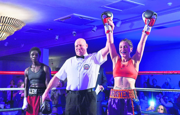 Kristen Fraser after winning the commonwealth title.