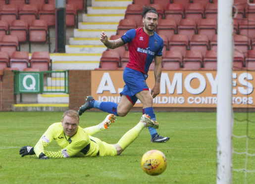 Caley Thistle's George Oakley is raring to go in the Highland derby.