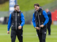 Charlie Trafford (right) wants Caley Thistle to aim for the Championship summit.