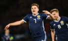 James Forrest's treble helped Scotland to victory over Israel.