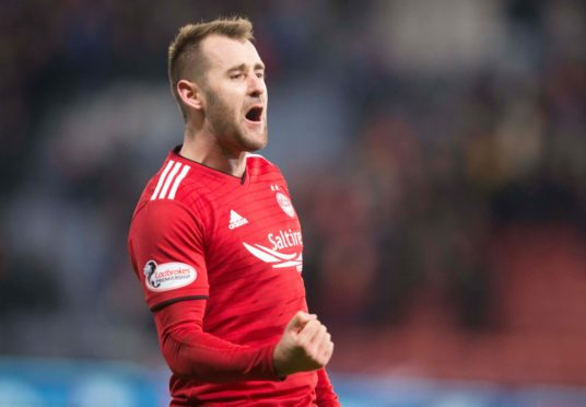 Niall McGinn scored 21 goals for the Dons as a centre forward during the 2012-13 campaign.