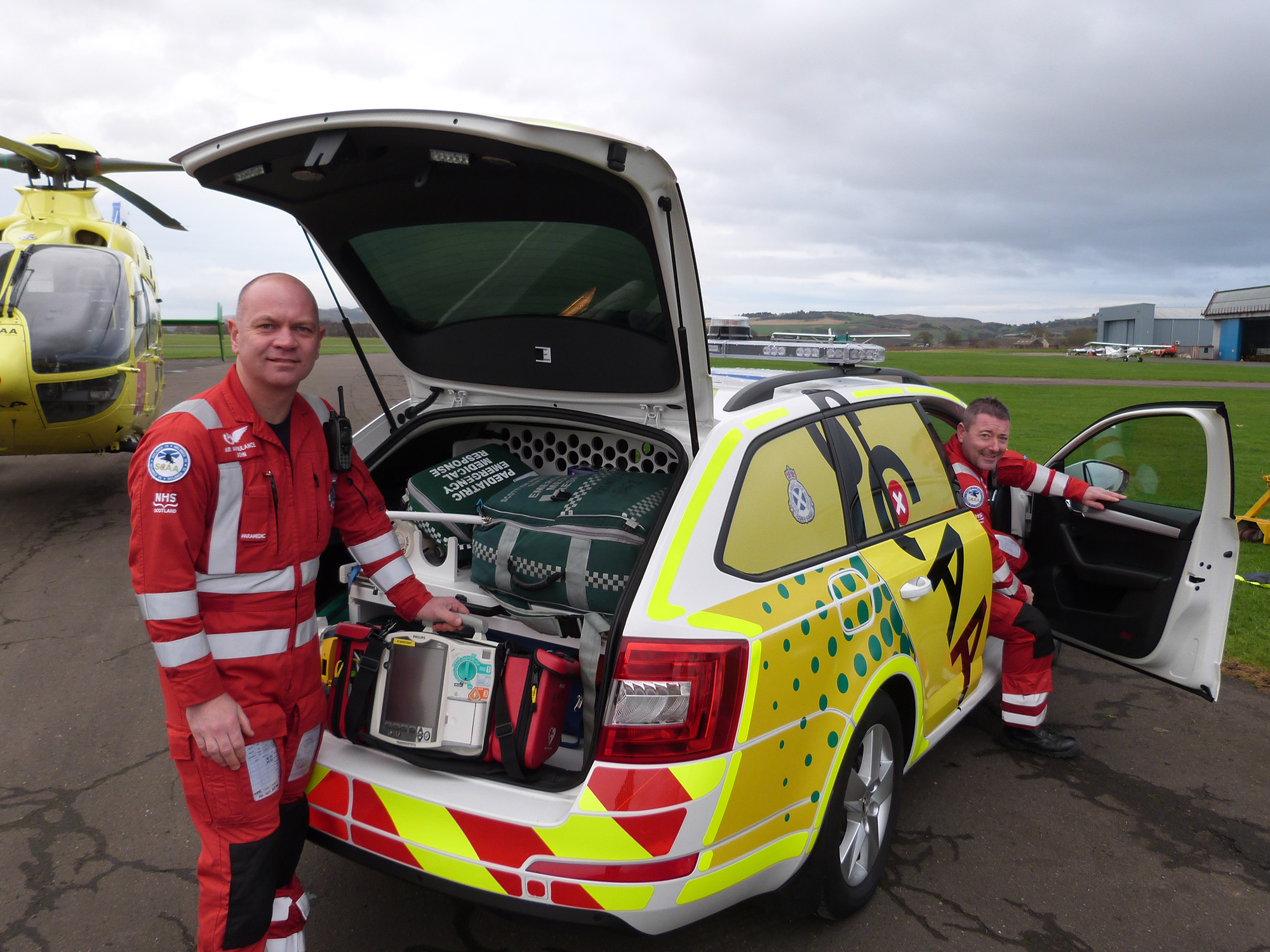Scotland's Charity Air Ambulance was awarded £8,746 to purchase new equipment for the air ambulance to help save lives of those suffering an out-of-hospital cardiac arrest.
