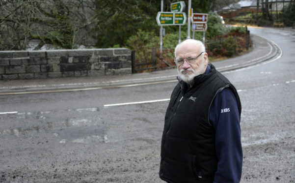 John Fotheringham says one pothole on the A82 has been repaired too often.