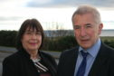 Sutherland councillors Linda Munro and Richard Gale, who takes over from Mrs Munro as chairman of Sutherland County Committee