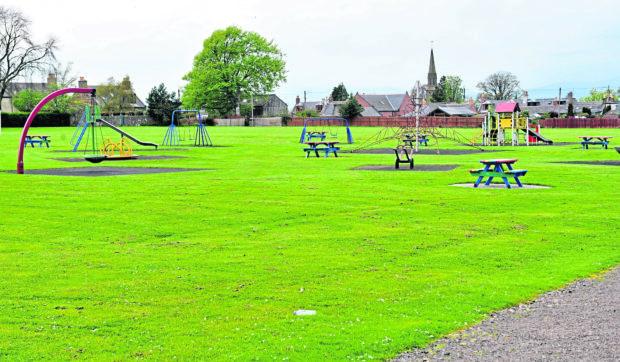 Pictured is Laurencekirk Memorial Park.