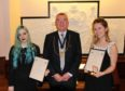 Winner Emma Grieshaber, Deacon George Henderson and runner-up Kimberlay Monaghan