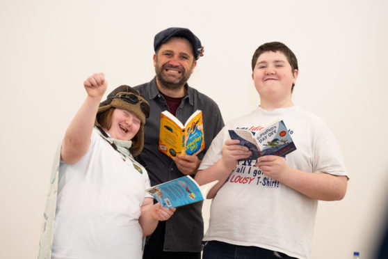 Award-winning author Phil Earle will visit Orchard Brae School with pupils, Emma McDermott, 14 and Michael Morris, 13.