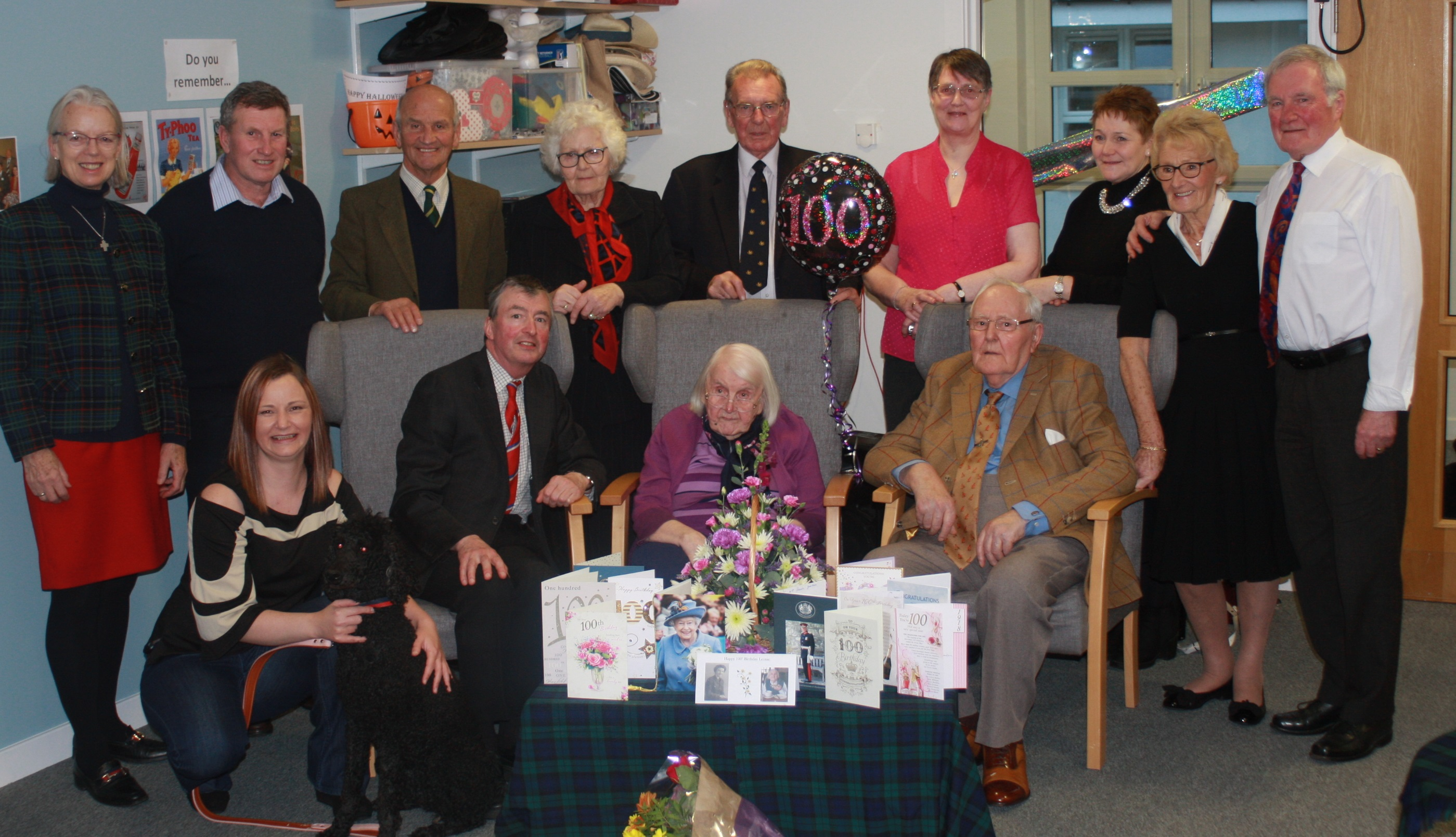 Leonie Gordon celebrated her 100th birthday surrounded by family and friends.