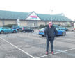 Andrew Spence, chief executive of Bid4Oban, in Lochavullin car park, which is no longer free and has several empty spaces.