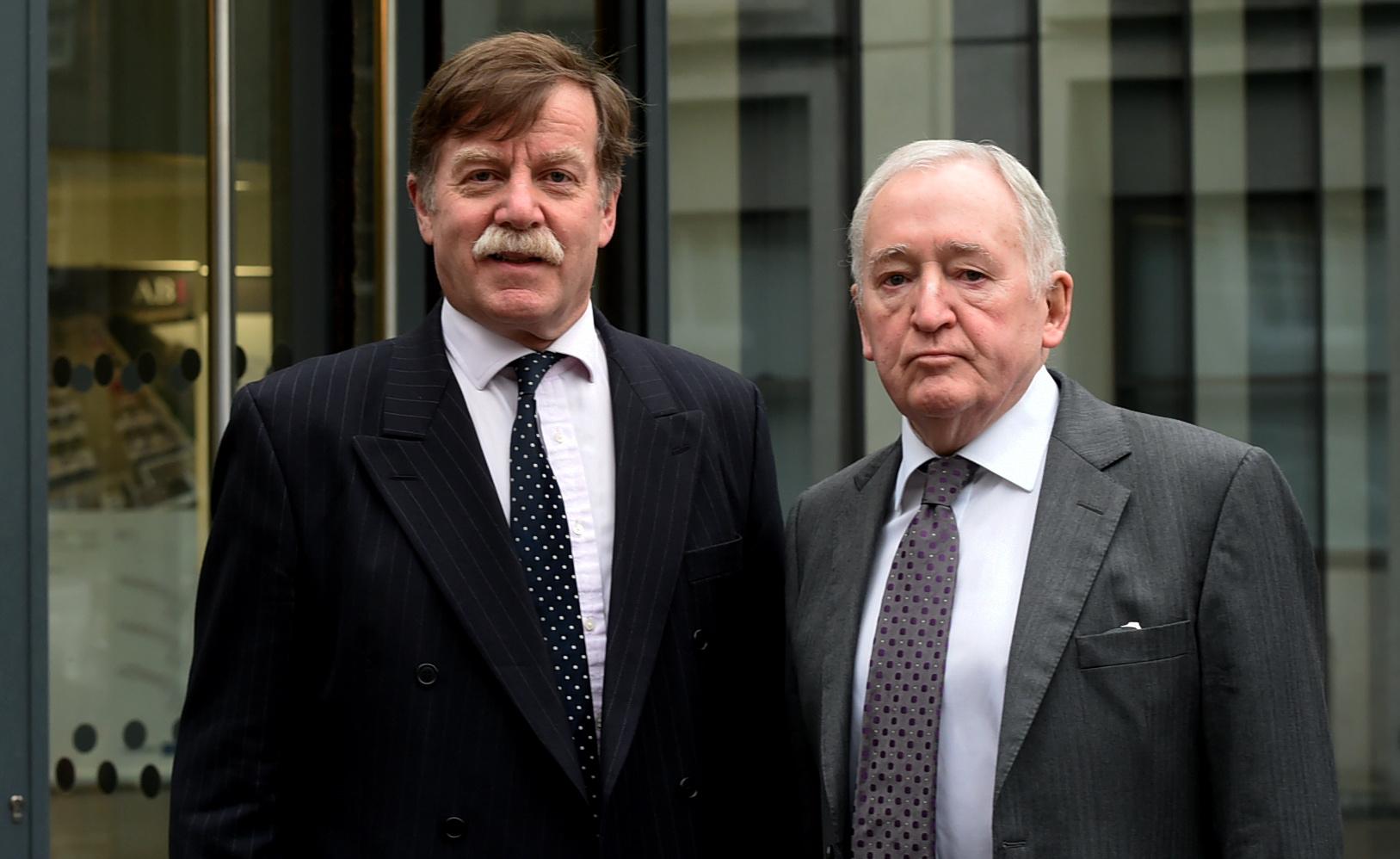 Dr Nick Renny and his solicitor, Frank Lefevre