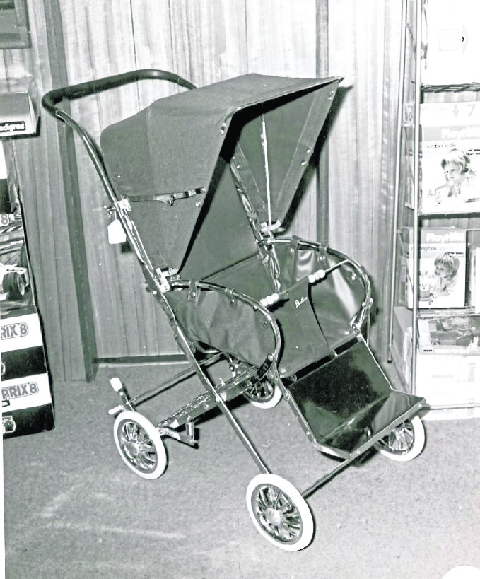 Police issued this image of the pram last month.