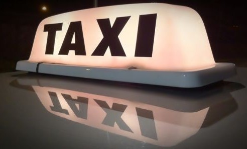 Stock image of taxi
