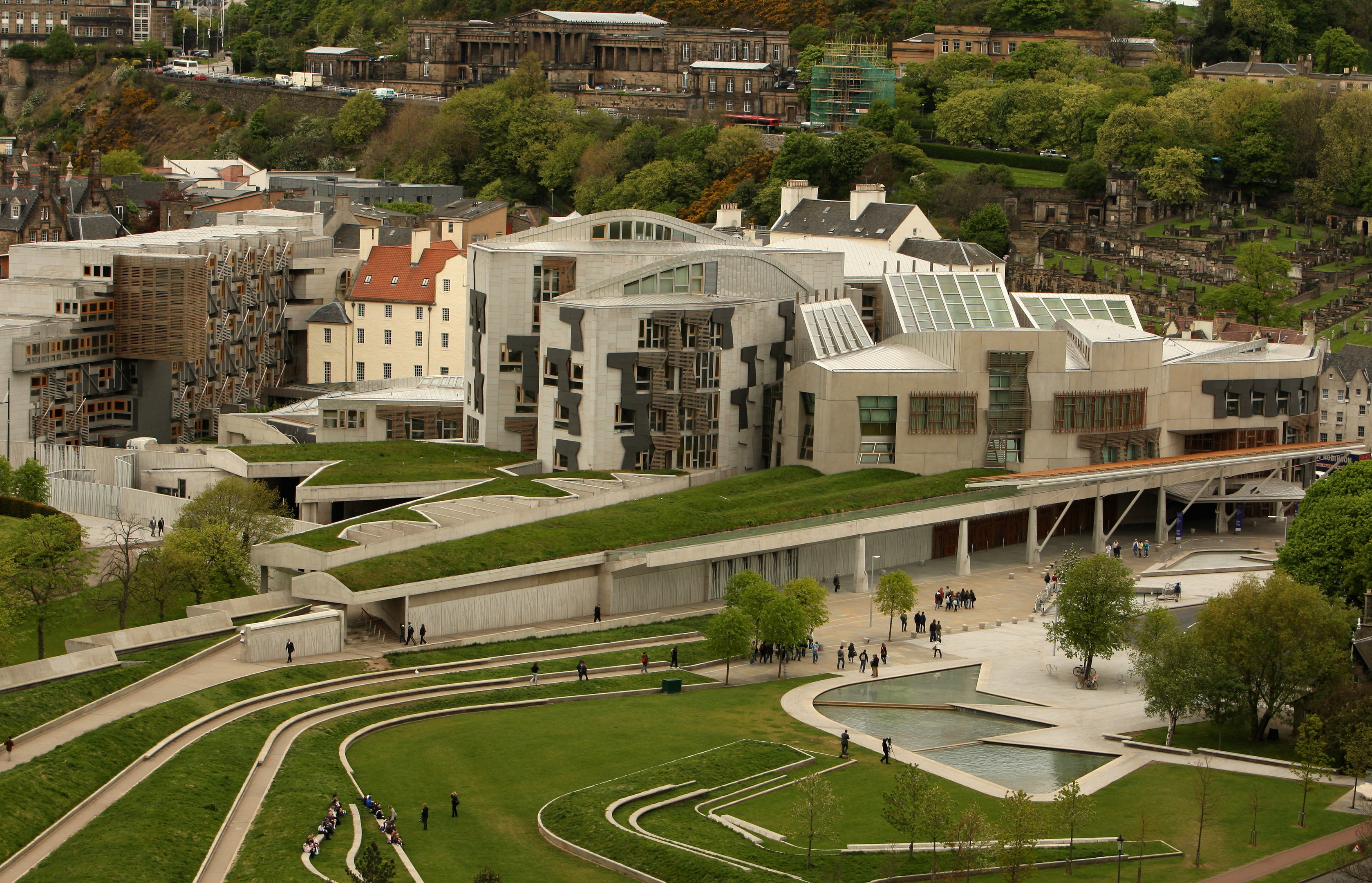 Activists have pitched their tents in Holyrood's grounds