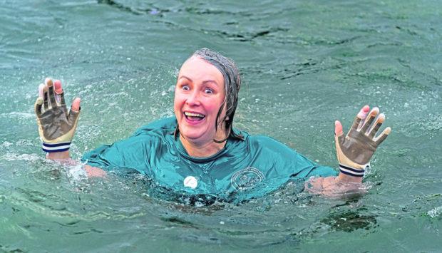 The Burghead Boxing Day swim.