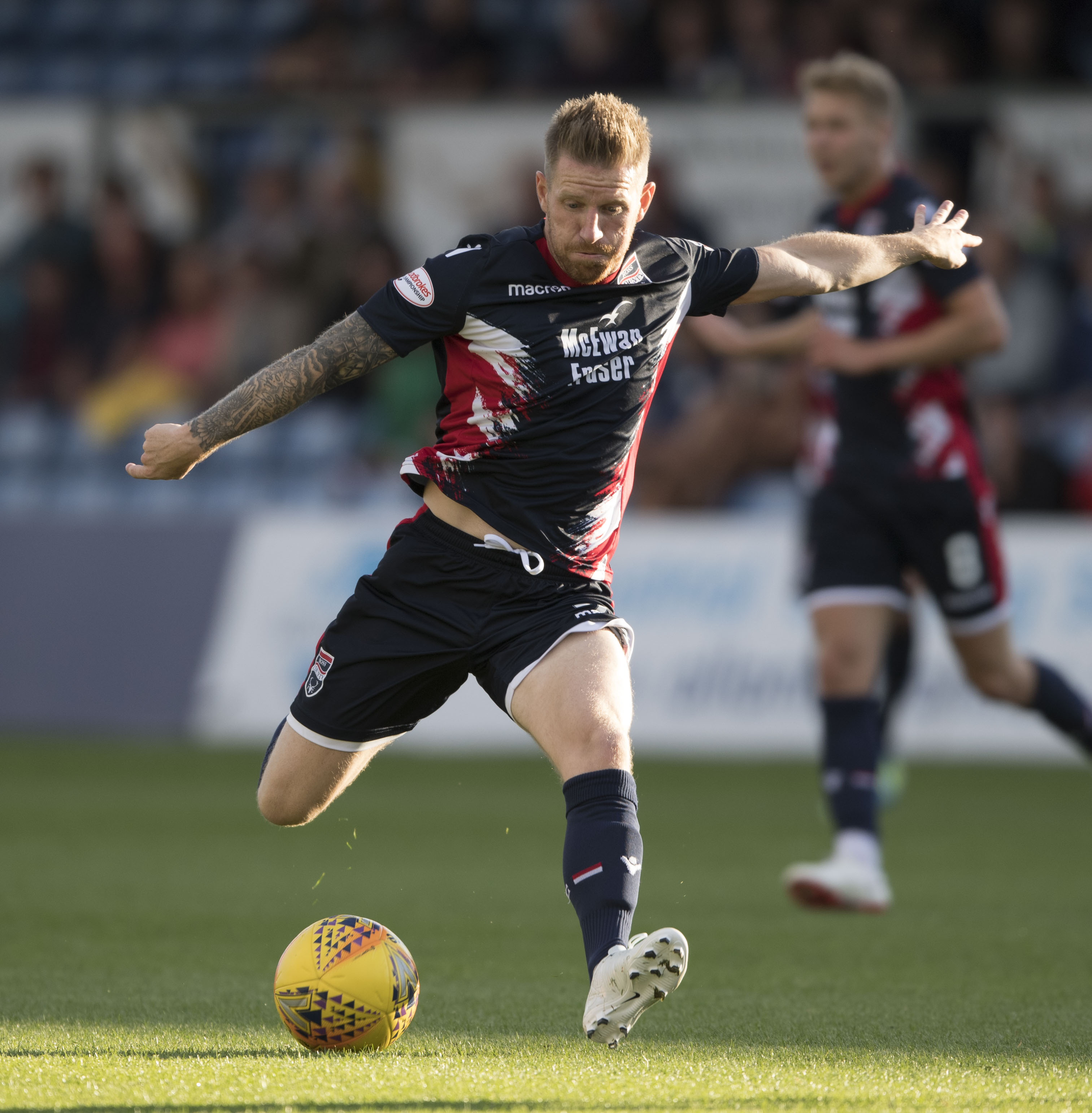 17/07/18 BETFRED CUP  ROSS COUNTY V DUNDEE UNITED (1-0)  THE GLOBAL ENERGY STADIUM - DINGWALL   Michael Gardyne in action for Ross County