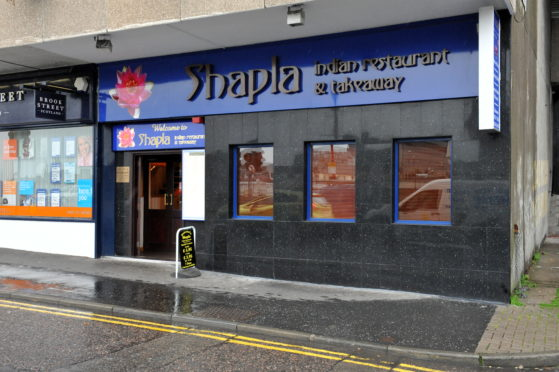 Shapla Indian restaurant in Inverness.