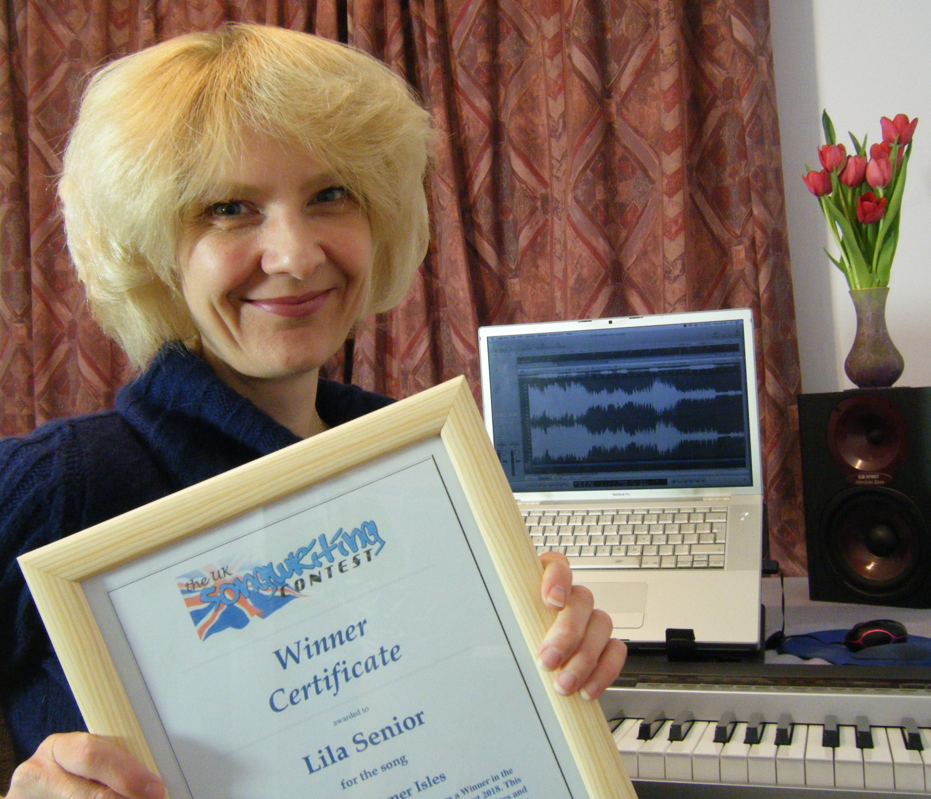 Composer Lila Senior was a winner at the UK Songwriting Contest.