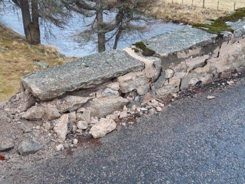 Gairnshiel Bridge has been left badly damaged. (Picture by Paul Spencer)