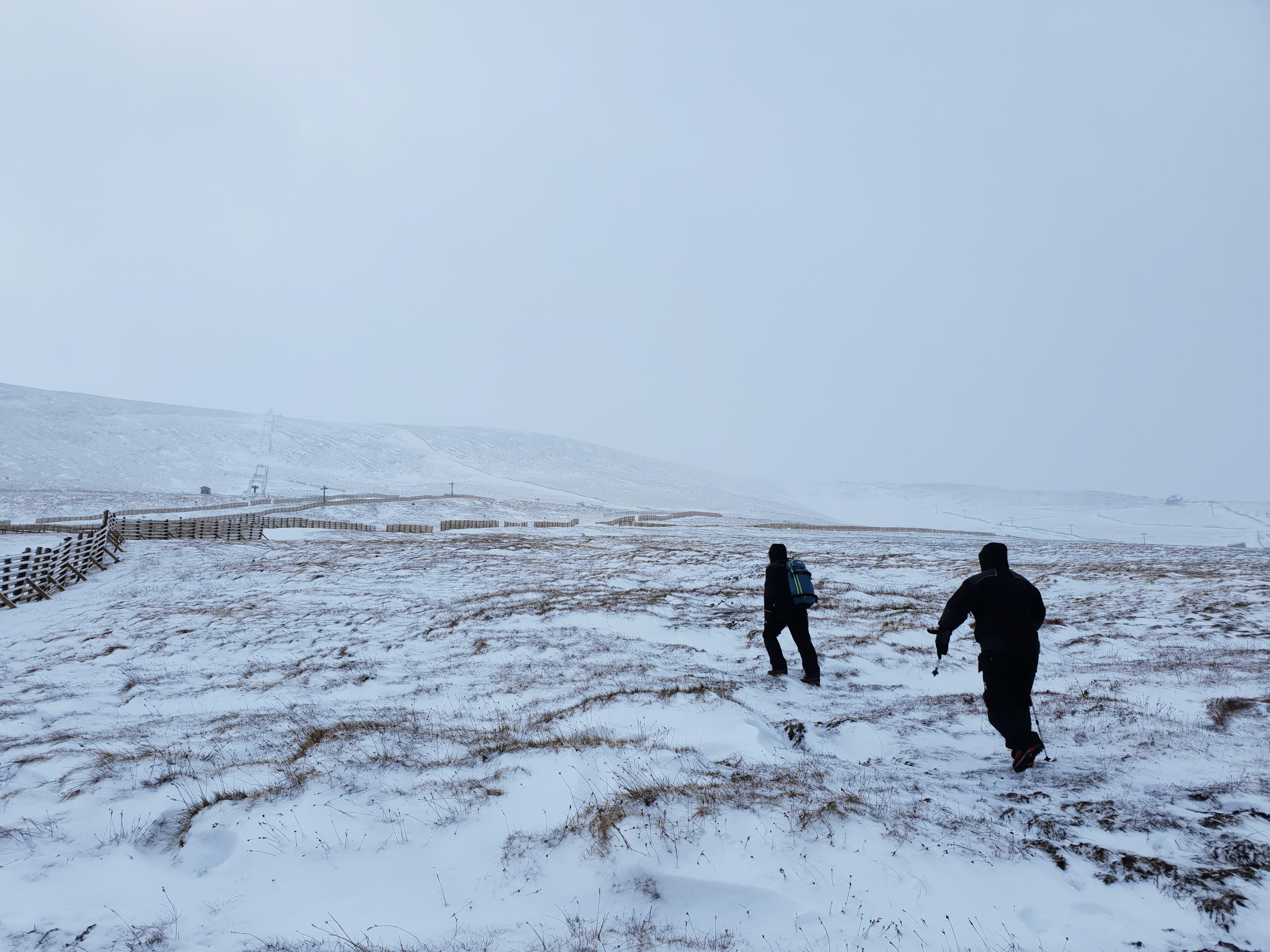 The Nevis Range hasn't got quite enough snow to ski on as yet.