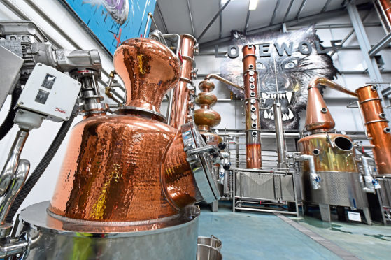 """EVENING EXPRESS """"Society"""" magazine - BrewDogs Spirits Gin / Vodka distillery. Steven Kersley will be holding a sprits masterclass at Taste of Grampian this year.  Picture by KENNY ELRICK     24/05/2018"""