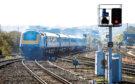 ScotRail train leaving Aberdeen