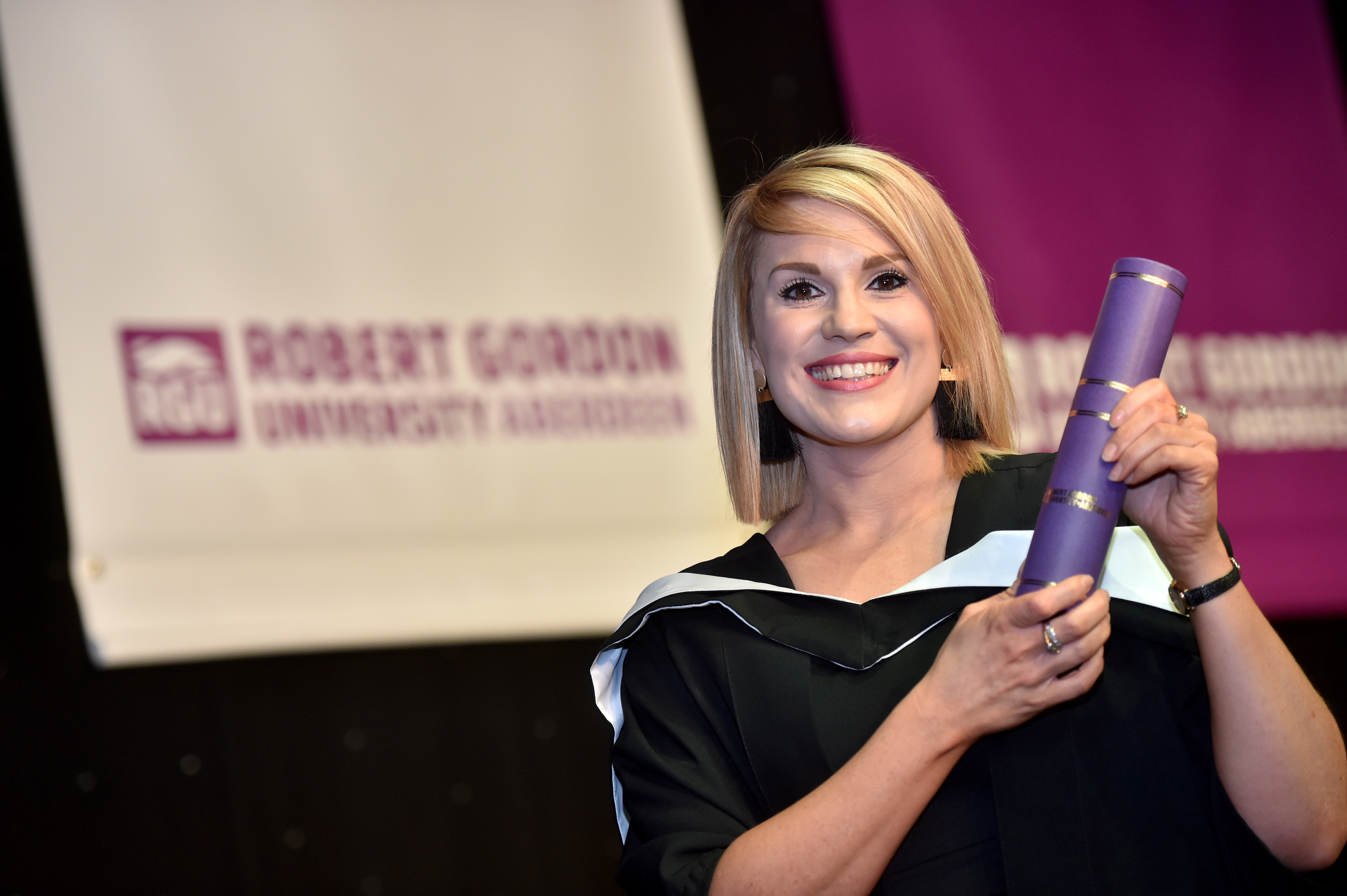 Amy Duthie picked up her PgDip Advanced Nursing from RGU.