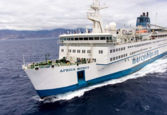Tymore Marine is helping replace lifeboats on the Africa Mercy floating hospital