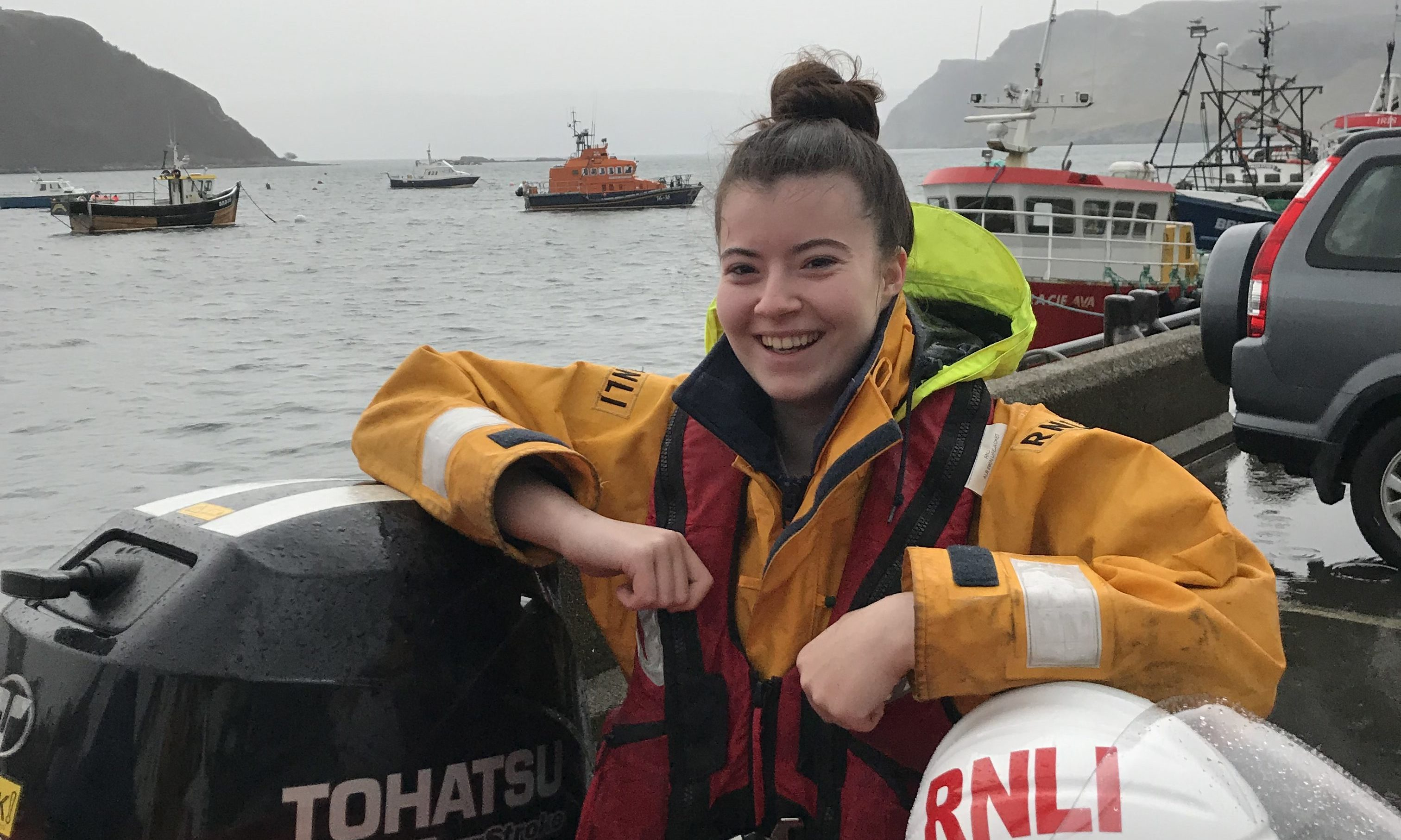 Chloe Urquhart has been juggling her time studying medicine at Aberdeen University as well as volunteering at the lifeboat station in Aberdeen
