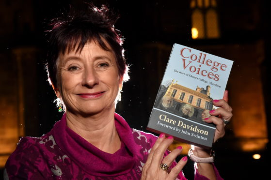 Clare Davidson with the novel