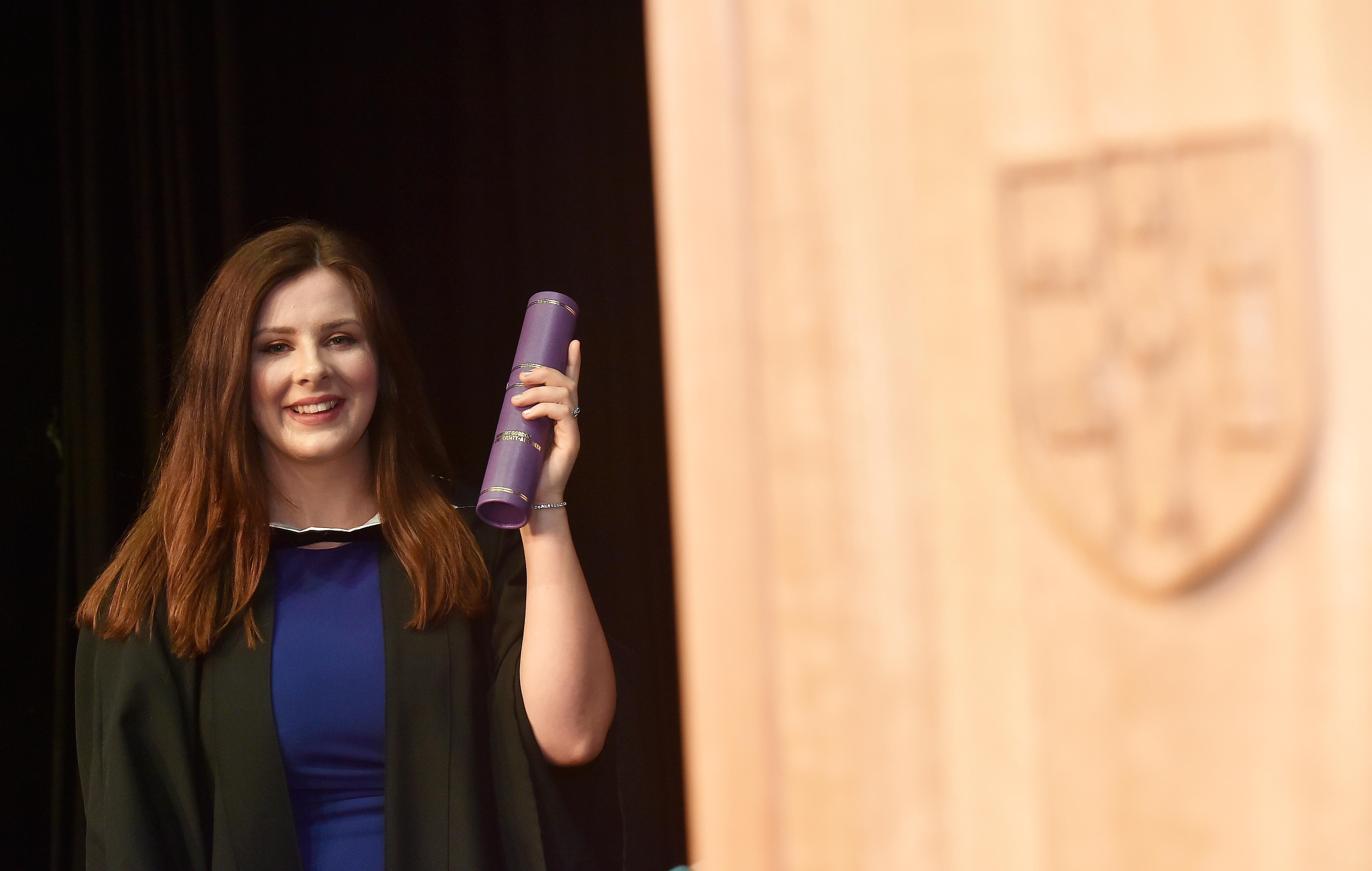 RGU graduate Danielle Robertson