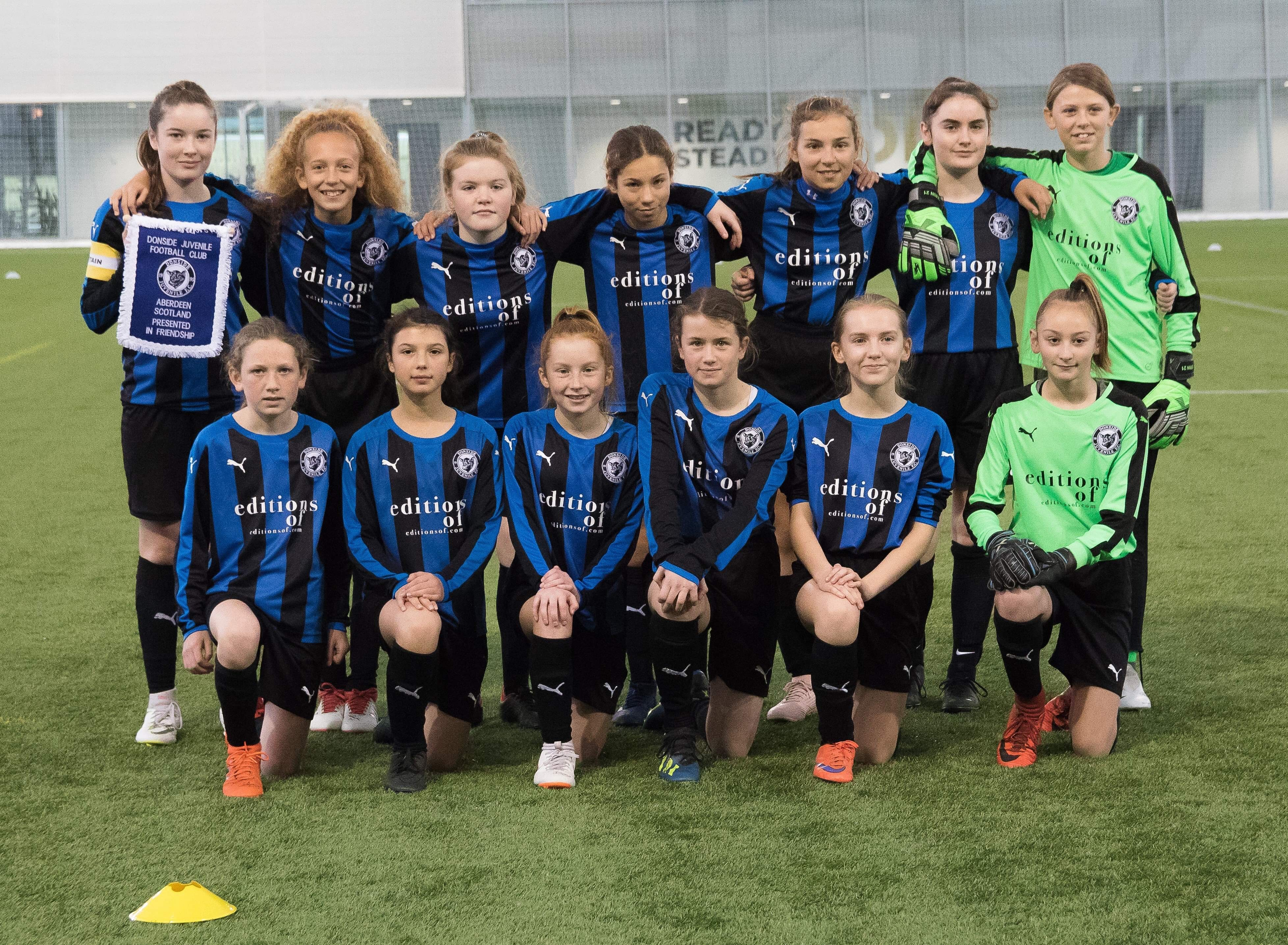 Under 13 girls team bring home the Scottish Cup.