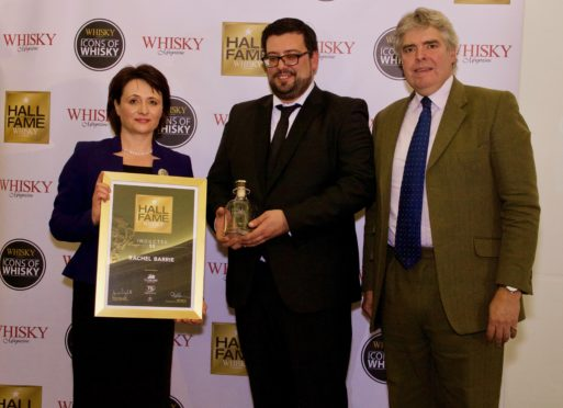 Left: Rachel Barrie, Master Blender, Brown-Forman Scotch Centre: Bruno Santos, Amorim Top Series  Right: Damian Riley-Smith, Managing Director of Whisky Magazine.