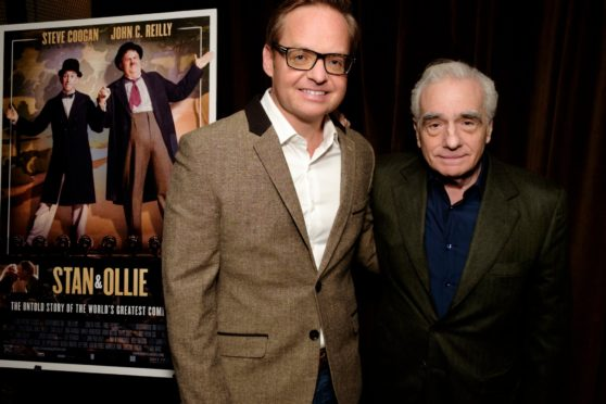 Jon S Baird with legendary film director Martin Scorsese last year