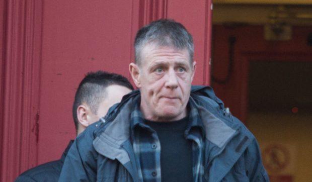 James Stephen leaving Elgin Sheriff Court.