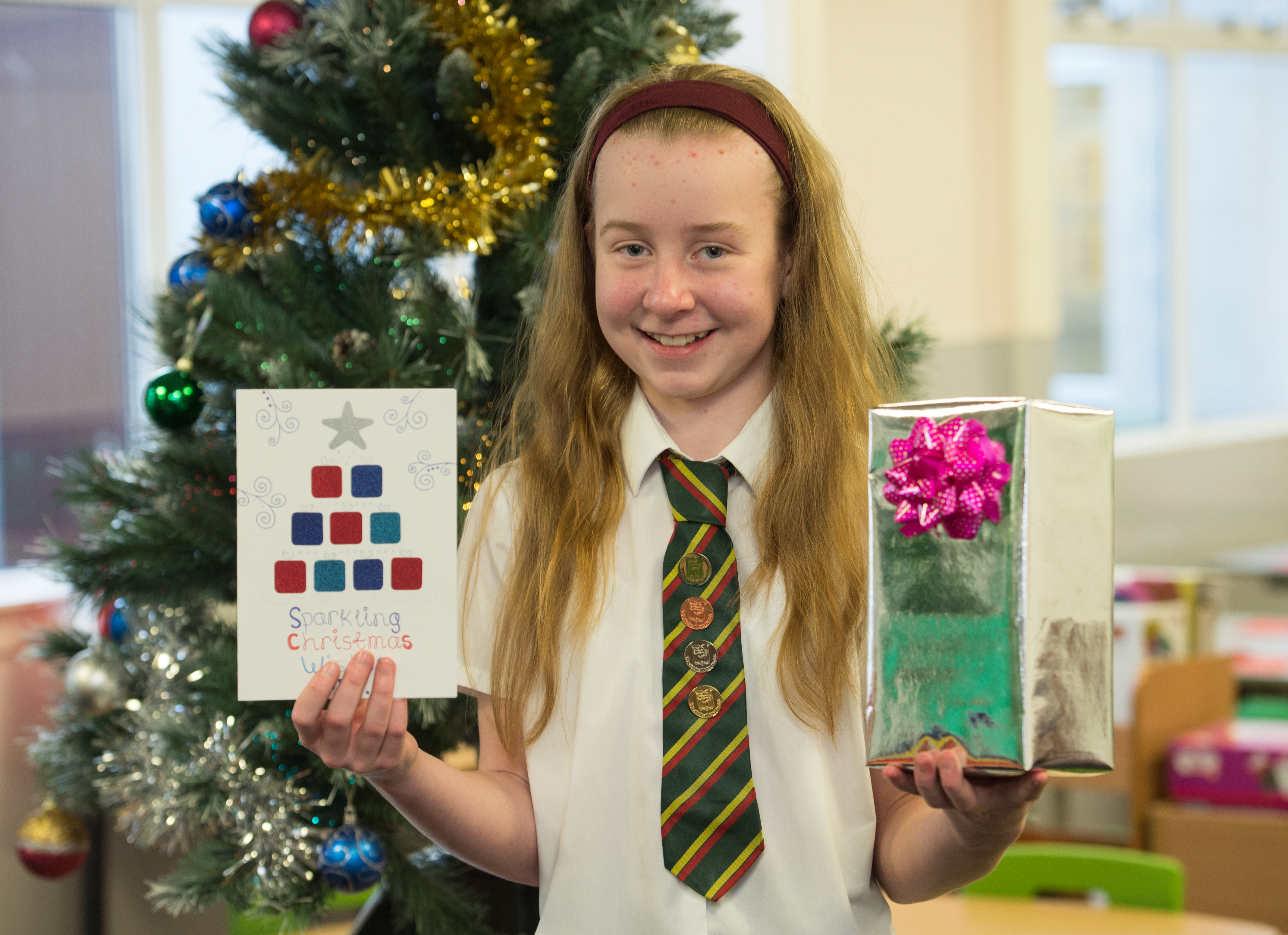 Jess Pick designed the winning entry for Richard Lochhead MSP's Christmas card competition to support Abbie's Sparkle Foundation.