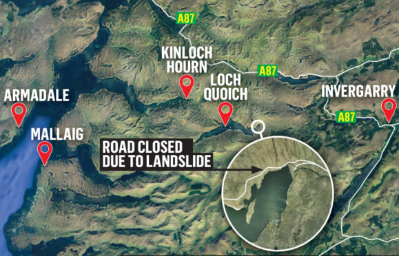 Map of the landslip