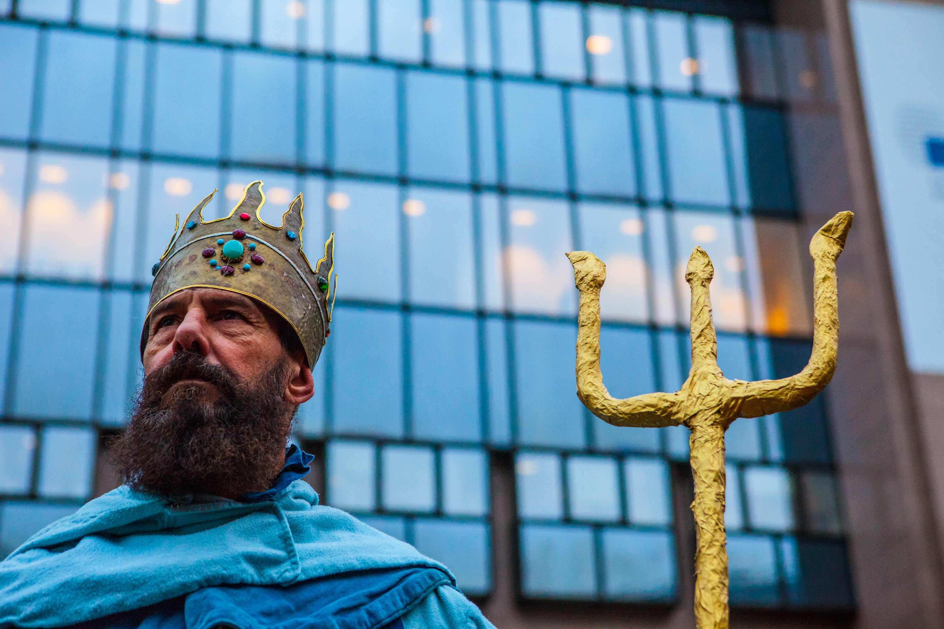 God of the sea, Poseidon, meets EU fisheries officials in Brussels.