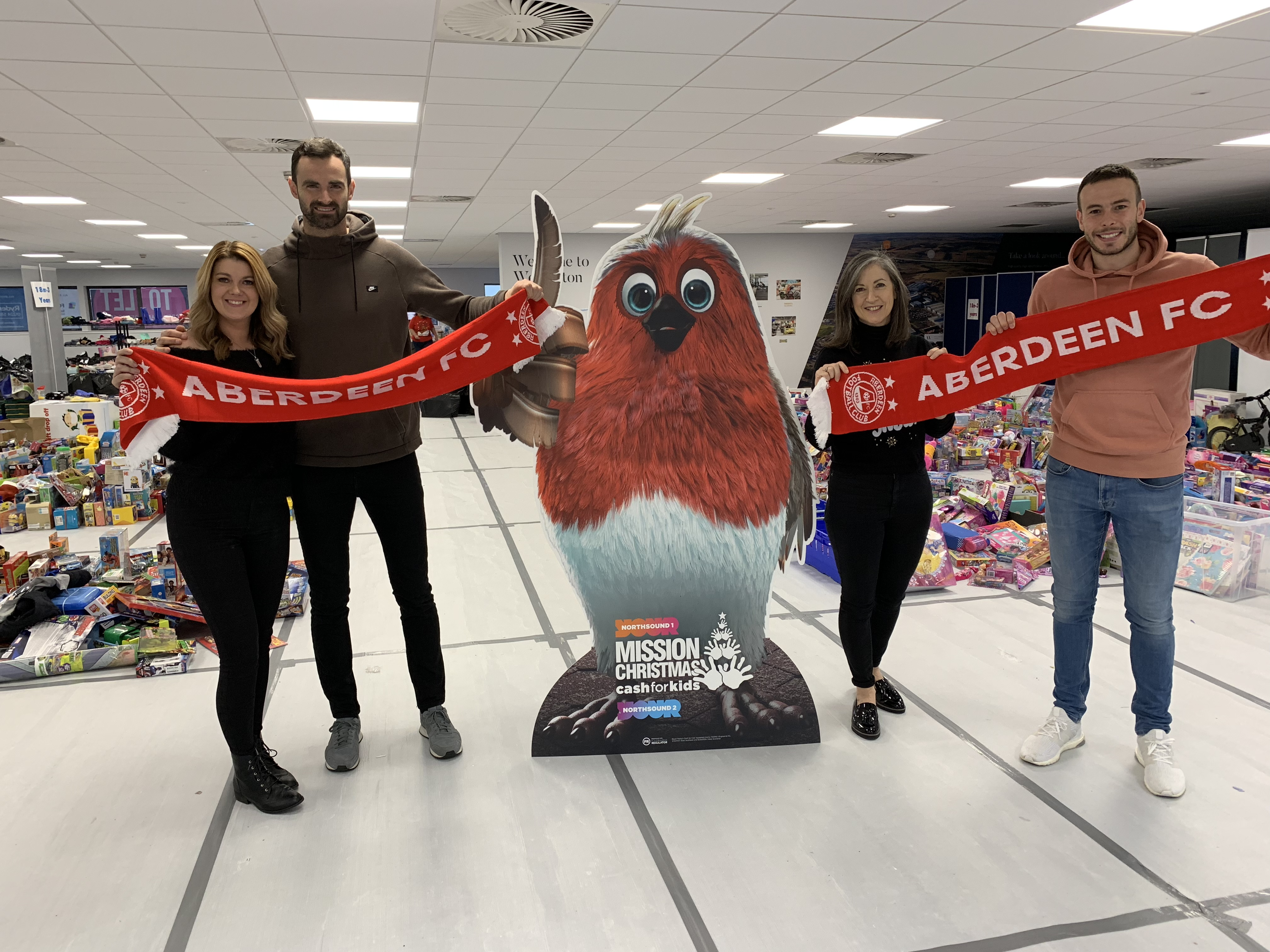 Joe Lewis and Andrew Considine have backed the Mission Christmas campaign.