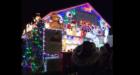 The McArthur family from Newtonhill's house in full festive illumination.