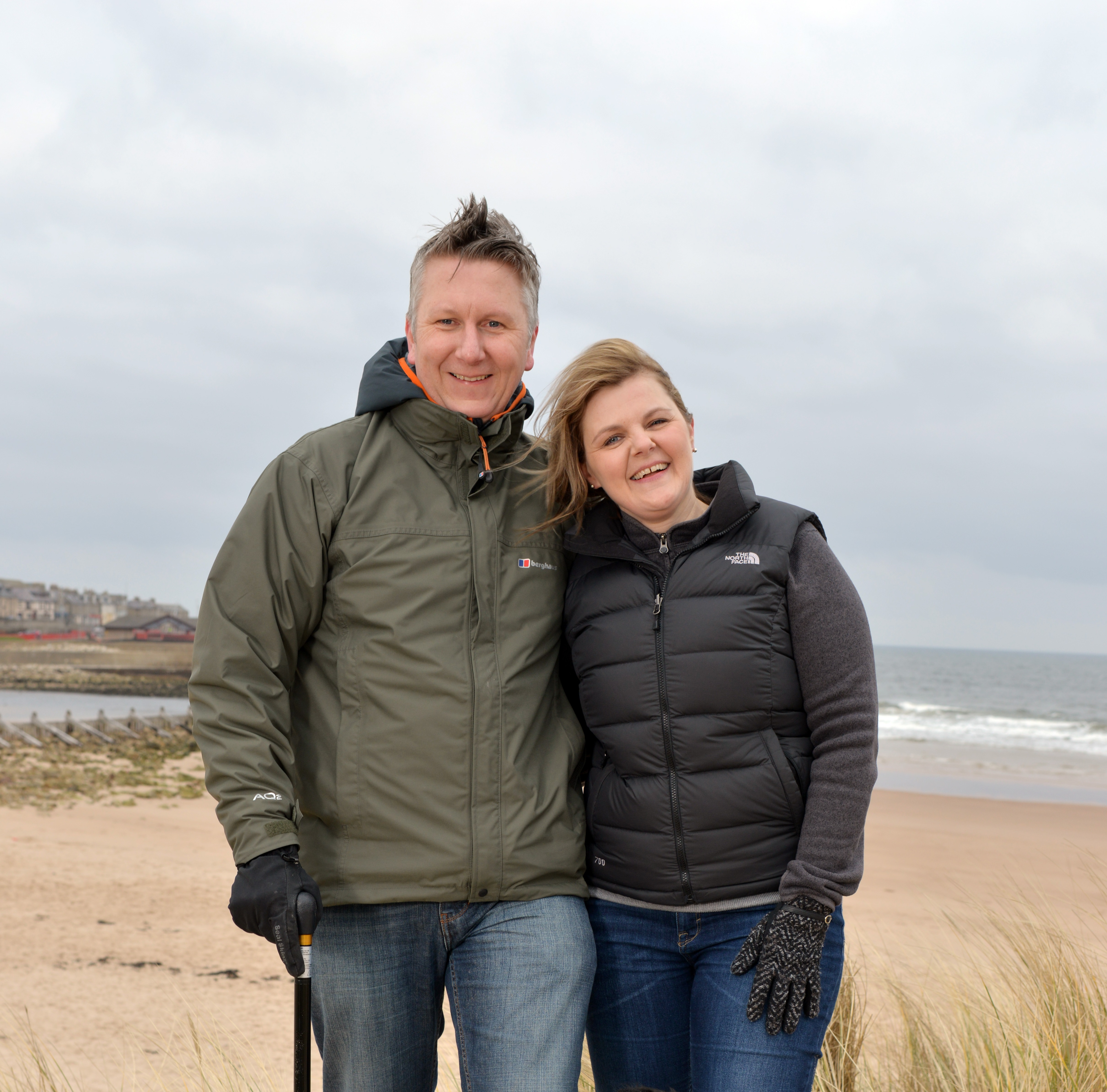 Mick McConnell with his wife Lorna.