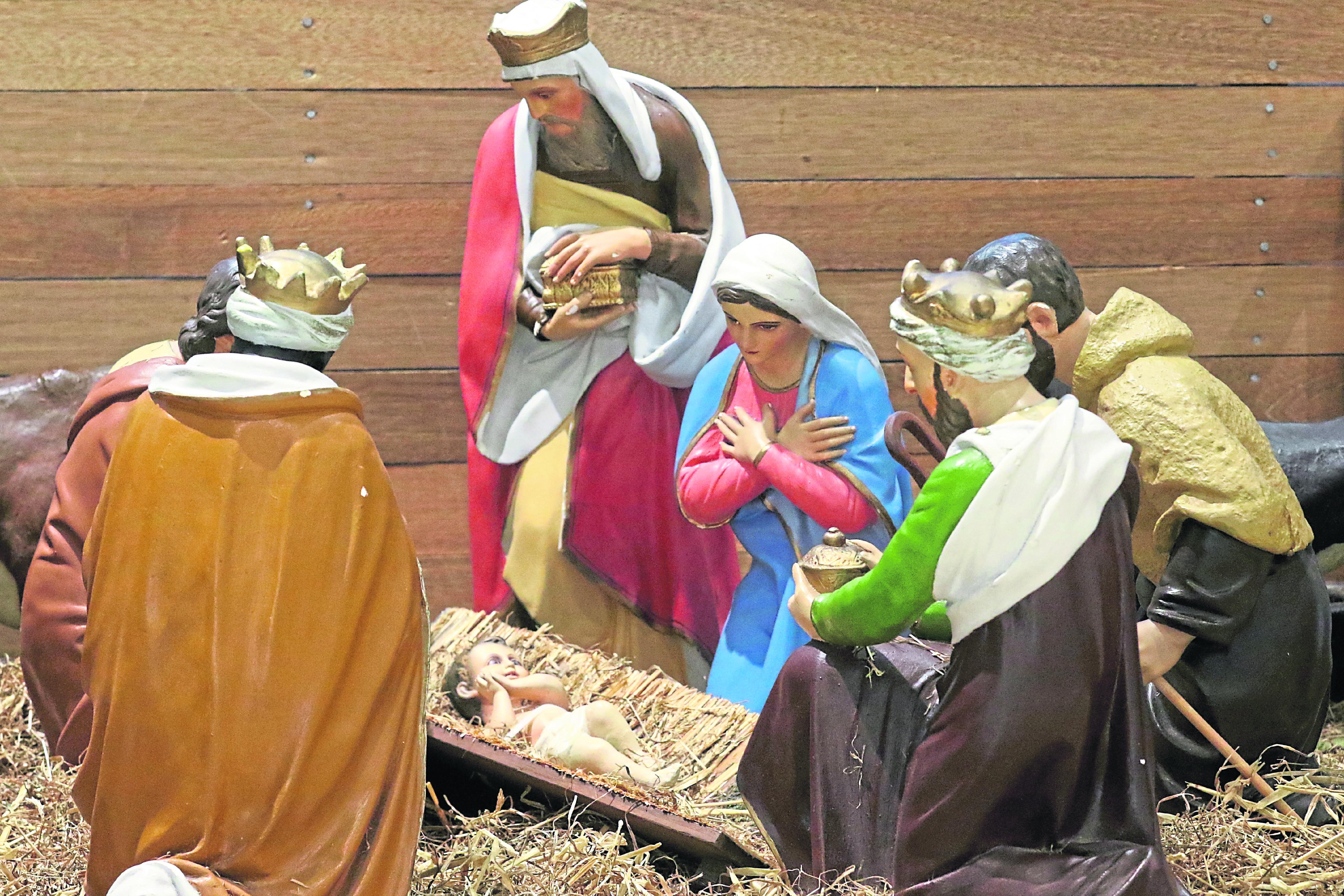 The nativity in Aberdeen's Saint Nicholas Kirkyard.