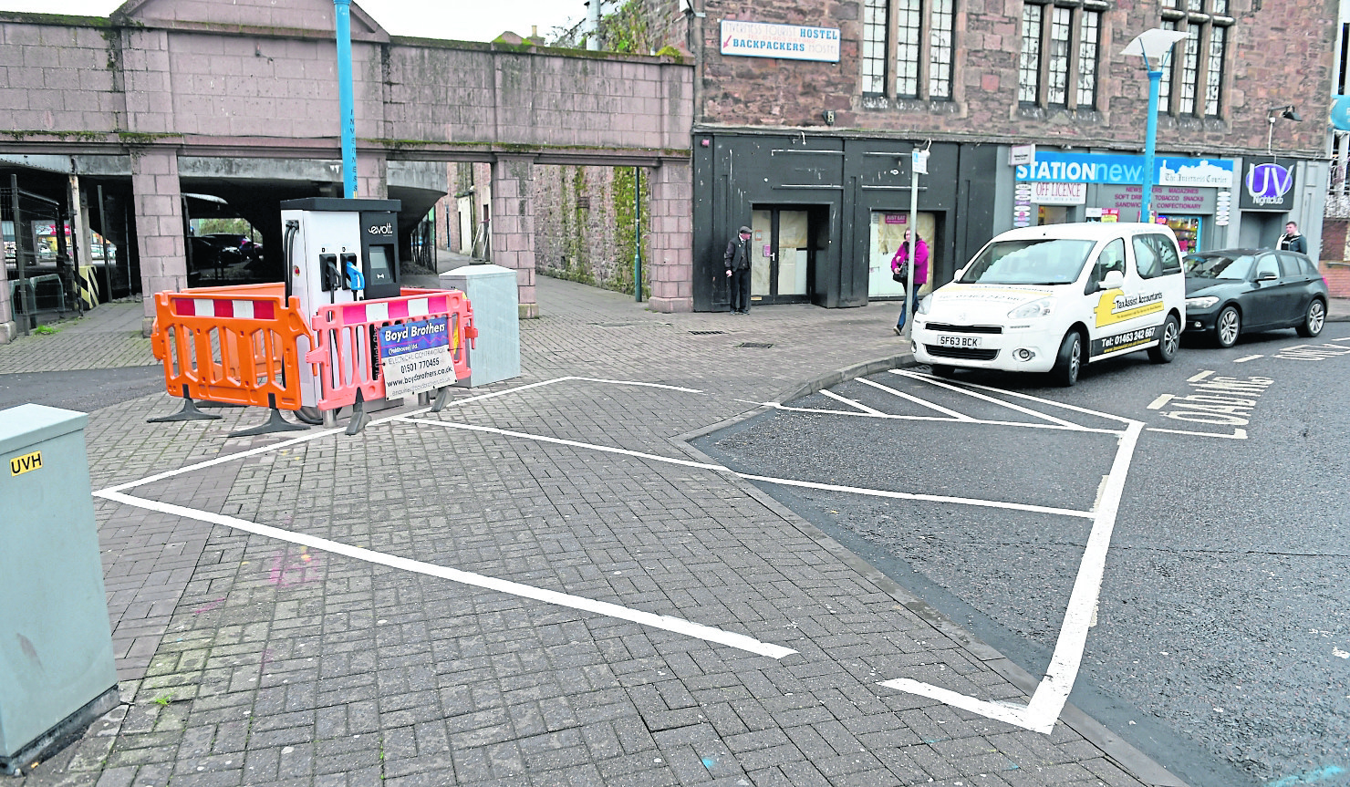 The car charging point in Inverness.
